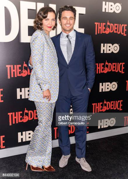 Actors Maggie Gyllenhaal and James Franco attend 'The Deuce' New York premiere at SVA Theater on September 7, 2017 in New York City.