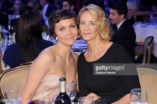 Actors Maggie Gyllenhaal and Janet McTeer attend the 5th Annual Critics' Choice Television Awards at The Beverly Hilton Hotel on May 31 2015 in...