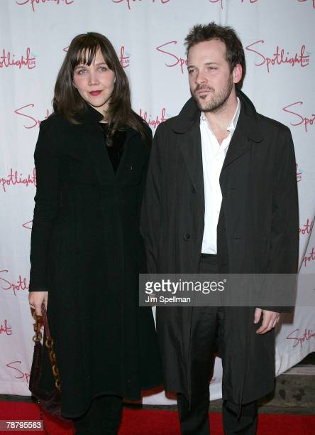 Actors Maggie Gyllenhaal and Peter Saarsgard arrive at the 2007 New York Film Critic's Circle Awards at Spotlight on January 6, 2008 in New York City.