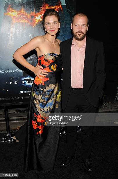 Actors Maggie Gyllenhaal and Peter Sarsgaard arrive at the world premiere of The Dark Knight at AMC Loews Lincoln Square IMAX on July 14 2008 in New...