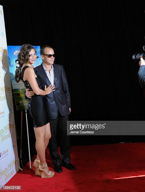 Actors Maggie Gyllenhaal and Peter Sarsgaard attend the New York premiere of Nanny McPhee Returns at AMC Loews Lincoln Square 13 on August 17 2010 in...