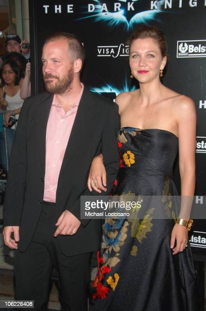 """Actors Maggie Gyllenhaal and Peter Sarsgaard attend the """"The Dark Knight"""" premiere at the AMC Loews Lincoln Square theater on July 14, 2008 in New..."""