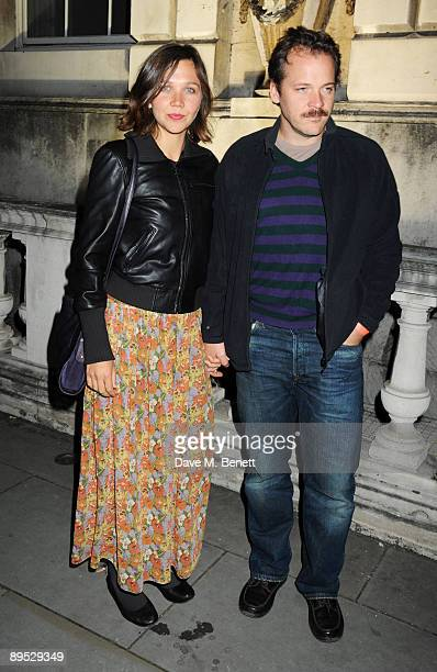 Actors Maggie Gyllenhaal and Peter Sarsgaard attend the UK film premiere of 'Broken Embraces' at Somerset House on July 30 2009 in London England