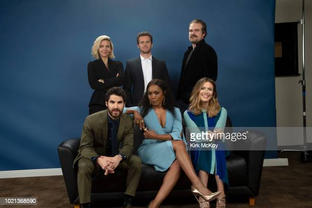 Maggie Gyllenhaal Jonathan Groff David Harbour Mandy Moore Angela Bassett and Darren Criss are photographed for Los Angeles Times on April 7 2018 in...