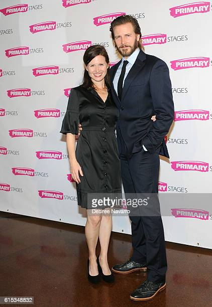 Actors Maggie Lacey and Bill Heck attend Primary Stages 2016 Gala at 538 Park Avenue on October 17 2016 in New York City