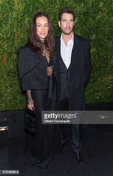 Actors Maggie Q and Dylan McDermott attend the 2015 Tribeca Film Festival Chanel artists dinner at Balthazar on April 20 2015 in New York City