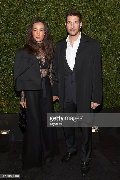 Actors Maggie Q and Dylan McDermott attend the 2015 Tribeca Film Festival Chanel Artists' Dinner at Balthazar on April 20 2015 in New York City