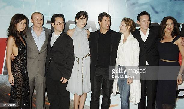 Actors Maggie Q Simon Pegg director JJ Abrams actors Michelle Monaghan Tom Cruise Keri Russell Jonathan Rhys Meyers and producer Paula Wagner arrive...