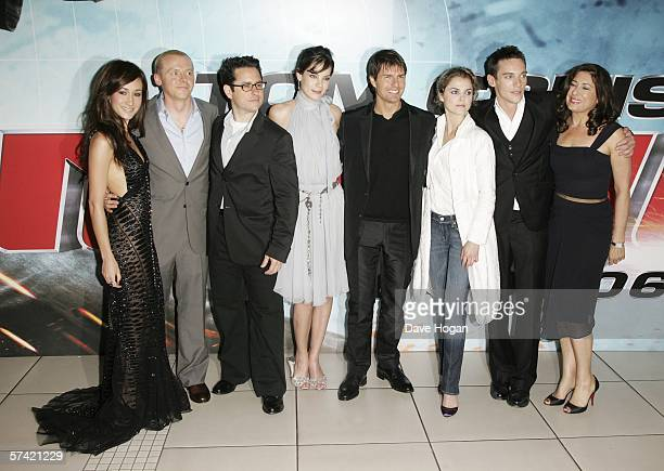 Actors Maggie Q Simon Pegg director JJ Abrams actors Michelle Monaghan Tom Cruise Keri Russell and Jonathan Rhys Meyers and producer Paula Wagner...