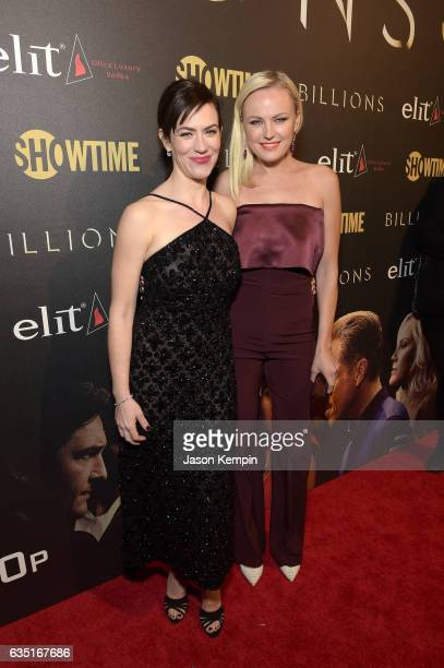 Actors Maggie Siff and Malin Akerman attend the Showtime and Elit Vodka hosted BILLIONS Season 2 premiere and party, held at Cipriani's in New York...
