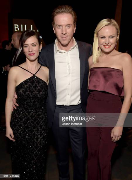 Actors Maggie Siff Damian Lewis and Malin Akerman attend the Showtime and Elit Vodka hosted BILLIONS Season 2 premiere and party held at Cipriani's...