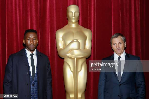 Actors Mahershala Ali and Viggo Mortensen attend The Academy of Motion Picture Arts and Sciences official screening of Green Book at the MOMA Titus 2...