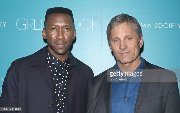Actors Mahershala Ali and Viggo Mortensen attend the screening for Green Book hosted by Universal Pictures and The Cinema Society at The Roxy Hotel...