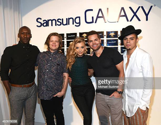 Actors Mahershala Ali Elden Henson Natalie Dormer Wes Chatham and Evan Ross greet fans at the Capitol Gallery located in the Samsung Galaxy...