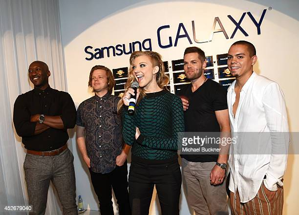 Actors Mahershala Ali, Elden Henson, Natalie Dormer, Wes Chatham, and Evan Ross greet fans at the Capitol Gallery located in the Samsung Galaxy...