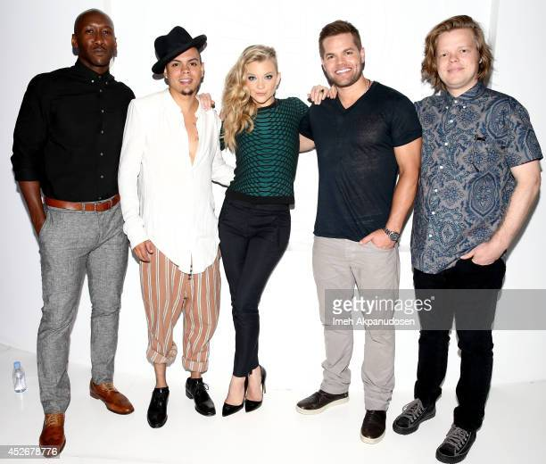 Actors Mahershala Ali, Evan Ross, Natalie Dormer, Wes Chatham, and Elden Henson attend the Samsung and Lionsgate premiere of the first official...