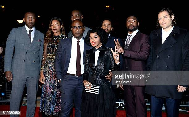 Actors Mahershala Ali Naomie Harris writer and executive producer Tarell Alvin McCraney director Barry Jenkins and actors Janelle Monáe Andre Holland...