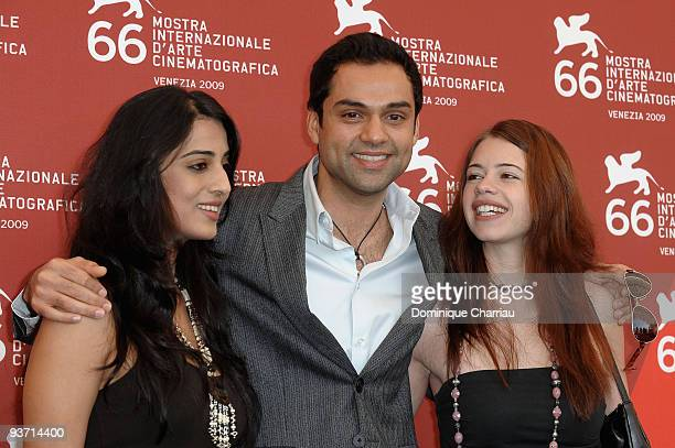 Actors Mahi Gill Abhay Deol and Kalki Koechlin attend the DevD Photocall at the Palazzo del Cinema during the 66th Venice Film Festival on September...