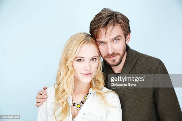 Actors Maika Monroe and Dan Stevens are photographed for Entertainment Weekly Magazine on January 25 2014 in Park City Utah
