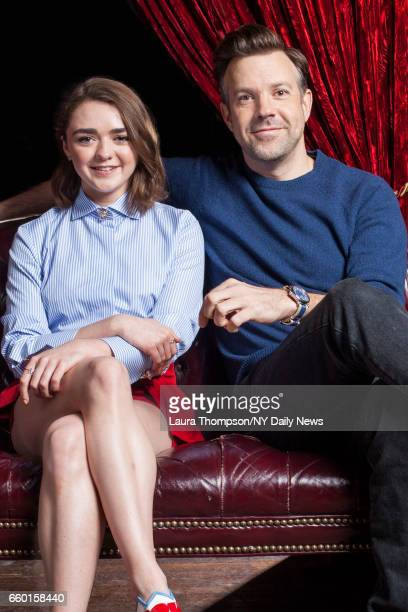 Actors Maisie Williams and Jason Sudeikis are photographed for the New York Daily News on April 14 in New York City