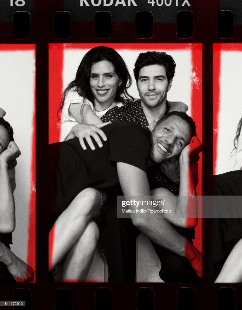 Actors Maiwenn, Tahar Rahim and Roschdy Zem are photographed for Madame Figaro on July 6, 2017 in Paris, France. Zem: Shirt (Lanvin), jeans (Levis). Maiwenn: T-shirt (Majestic Filatures), shirt personal. Rahim: Shirt (Lanvin), pants (COS). PUBLISHED IMAGE.