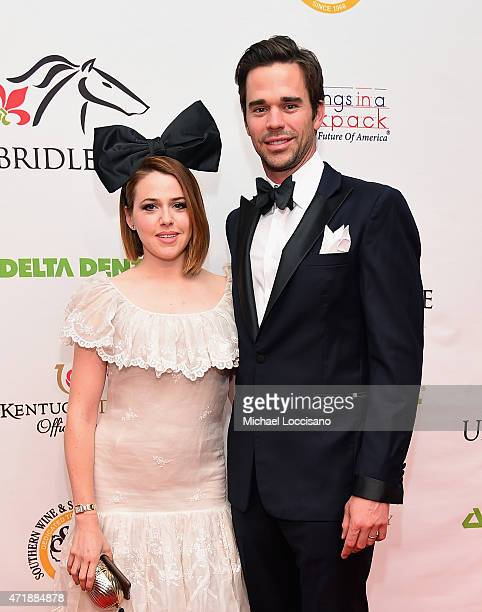 Actors Majandra Delfino and David Walton attend the 141st Kentucky Derby Unbridled Eve Gala at Galt House Hotel Suites on May 1 2015 in Louisville...