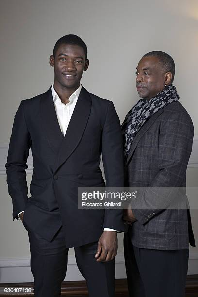 Actors Malachi Kirby and LeVar Burton are photographed for Self Assignment on December 8 2016 in Rome Italy