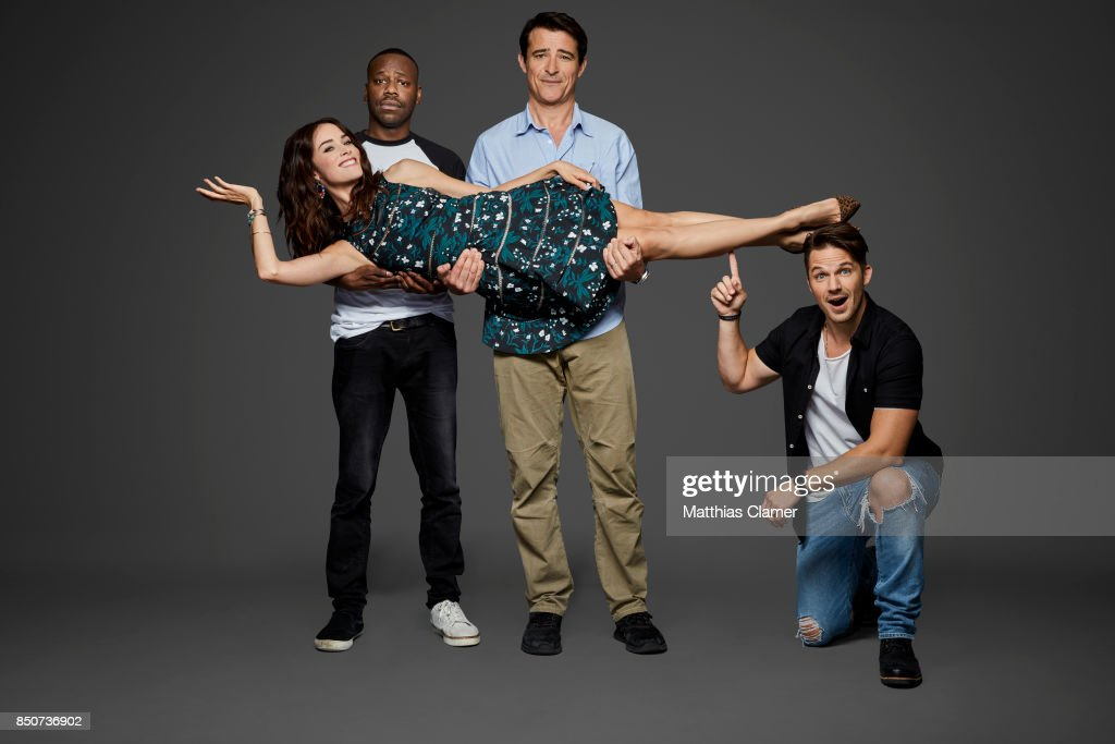 Actors Malcolm Barrett, Goran Visnjic, Abigail Spencer and Matt Lanter from Timeless are photographed for Entertainment Weekly Magazine on July 20, 2017 at Comic Con in San Diego, California.