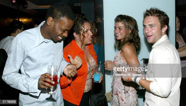 Actors Malcolm Barrett Jaclyn DeSantis DianaMaria Riva and Charlie Day attend the Fox 2003 Summer Press Tour party at the Pacific Design Center on...