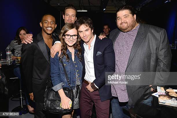 Actors Malcolm David Kelley Maude Apatow Josh Holloway Ian Somerhalder and Jorge Garcia attend The Paley Center For Media's PaleyFest 2014 Honoring...