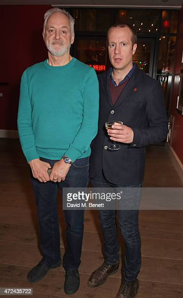 """Actors Malcolm Sinclair and Geoffrey Streatfeild attend a special screening of The Donmar Warehouse production of """"The Vote"""" at the Ham Yard Hotel,..."""