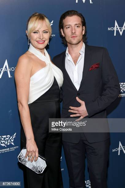 Actors Malin Akerman and Jack Donnelly attend the 2017 Humane Society of the United States to the Rescue New York Gala at Cipriani 42nd Street on...
