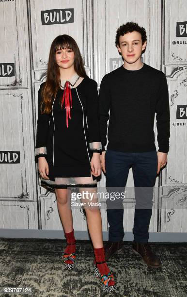 Actors Malina Weissman and Louis HynesÊvisit Build Series to discuss Netflix's series 'Lemony Snicket's A Series of Unfortunate Events' at Build...