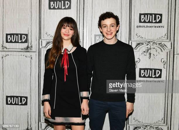 Actors Malina Weissman and Louis HynesÊvisit Build Series to discuss Netflix's series Lemony Snicket's A Series of Unfortunate Events at Build Studio...