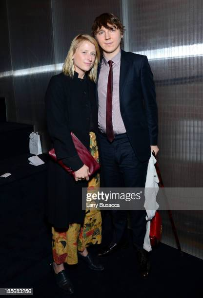 Actors Mamie Gummer and Paul Dano attend PRADA Journal A Literary Contest In Collaboration With Feltrinelli Editore at the Prada Epicenter Store on...