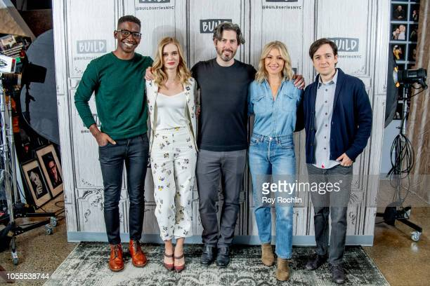 Actors Mamoudou Athie Sara Paxton director Jason Reitman actors Ari Graynor and Josh Brener discuss 'The Front Runner' with the Buld Series at Build...
