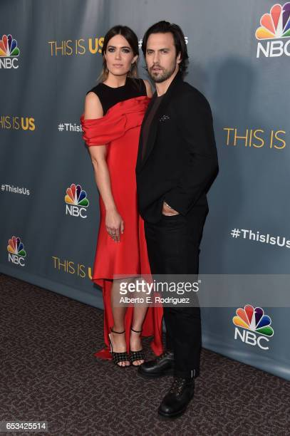 Actors Mandy Moore and Milo Ventimiglia attend a screening of the season finale of NBC's 'This Is Us' at The Directors Guild Of America on March 14...