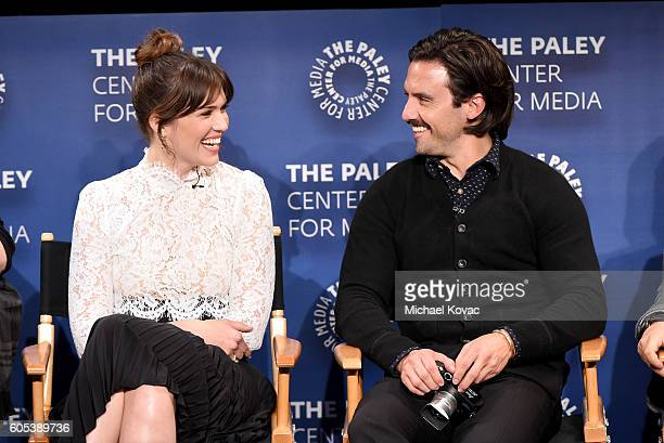 Actors Mandy Moore and Milo Ventimiglia present onstage at The Paley Center for Media's 10th Annual PaleyFest Fall TV Previews honoring NBC's This Is...
