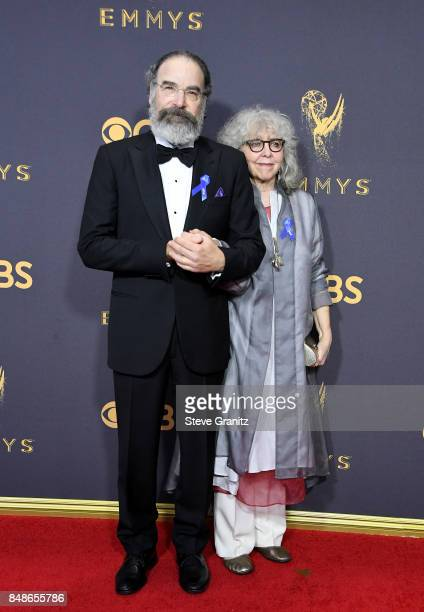 Actors Mandy Patinkin and Kathryn Grody attend the 69th Annual Primetime Emmy Awards at Microsoft Theater on September 17 2017 in Los Angeles...