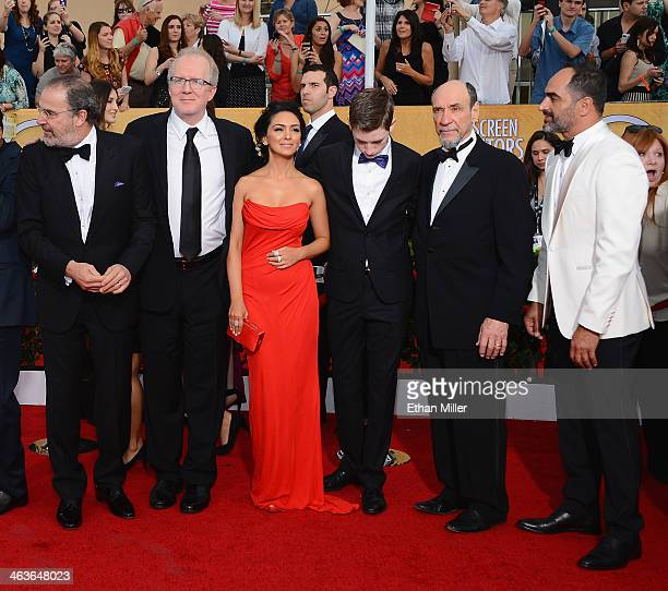 Actors Mandy Patinkin Tracy Letts Nazanin Boniadi Jackson Pace F Murray Abraham and Navid Negahban attend the 20th Annual Screen Actors Guild Awards...