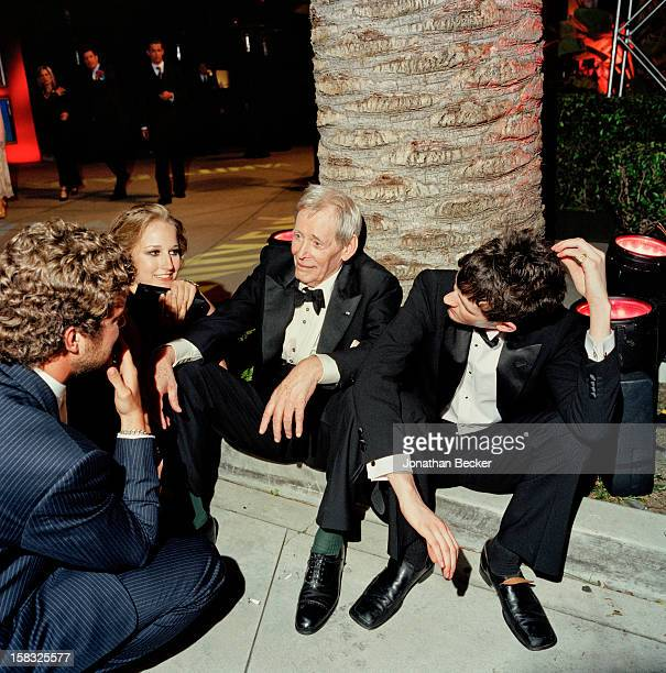 Actors Manhattan Perry, Leelee Sobieski, Peter O'Toole and Lorcan O'Toole are photographed for Vanity Fair Magazine on March 23, 2003 at the Vanity...