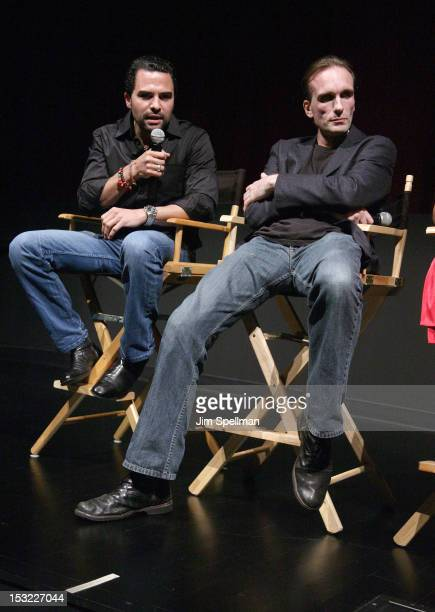 Actors Manny Perez and Peter Greene attend the 'Keep Your Enemies Closer Checkmate' screening at the School of Visual Arts Theater on October 1 2012...