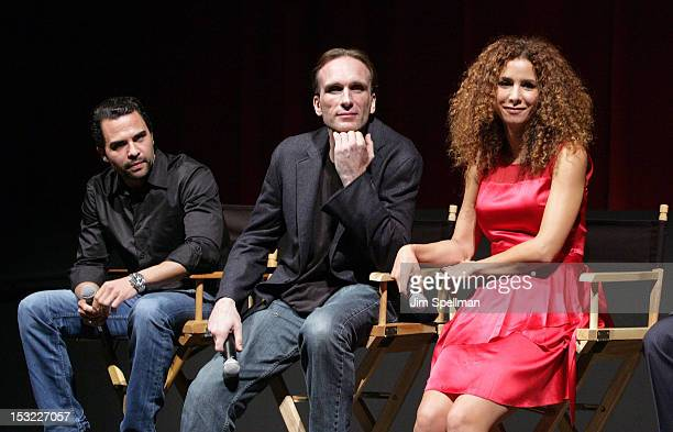 Actors Manny Perez Peter Greene Yvonne Maria Schaefer and actor/director Federico Castelluccio attend the 'Keep Your Enemies Closer Checkmate'...
