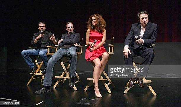 Actors Manny Perez Peter Greene Yvonne Maria Schaeferand actor/director Federico Castelluccio attend the 'Keep Your Enemies Closer Checkmate'...