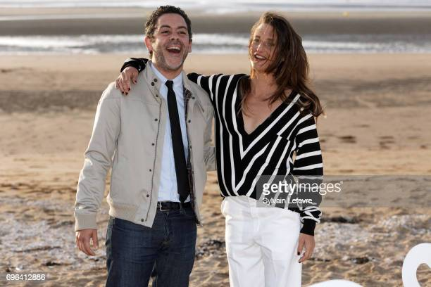 Actors Manu Payet and Camille Cottin attend jury photocall during the 2nd day of 31st Cabourg Film Festival on June 15 2017 in Cabourg France