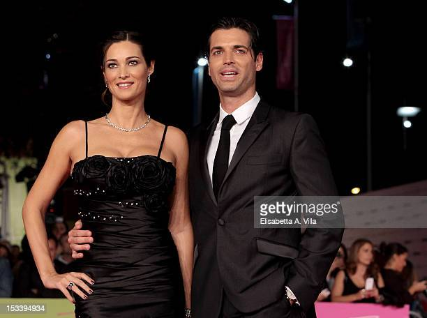 Actors Manuela Arcuri and Sergio Arcuri attend 'Pupetta Una Storia Italiana' premiere during the 2012 RomaFictionFest at Auditorium Parco della...