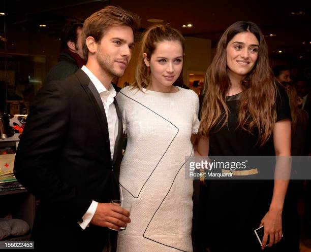 Actors Marc Clotet Ana de Armas and Olivia Molina attend the new Natura Boutique store opening at the Illa Diagonal commercial center on October 30...