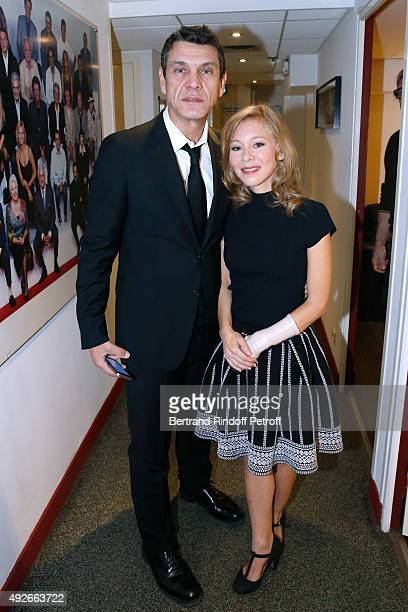 Actors Marc Lavoine and Geraldine Martineau present the Theater Play 'Le Poisson belge' performed at 'La Pepiniere Theatre' during the 'Vivement...