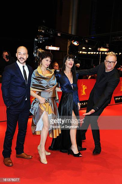 Actors MarcAndre Grondin Pierrette Robitaille Romane Bohringer and director Denis Cote attend the 'Vic Flo saw a Bear' Premiere during the 63rd...