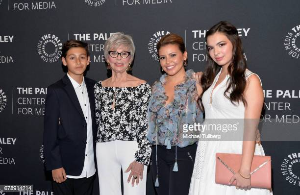 Actors Marcel Ruiz Rita Moreno Justina Machado and Isabella Gomez attend An Evening With One Day at a Time as part of the 2017 PaleyLive LA Spring...